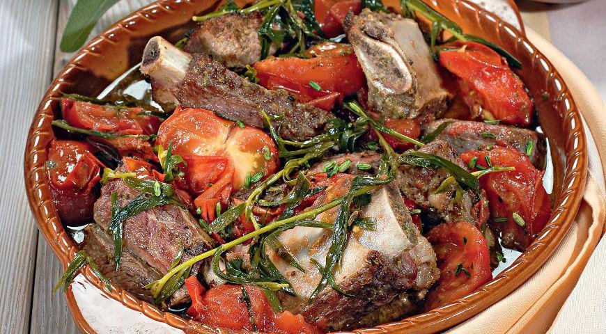 Тушеное мясо по-провансальски